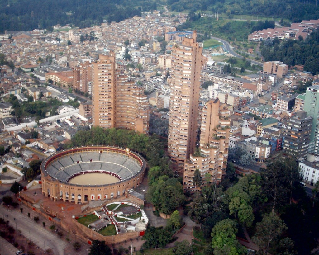 Bogotá today, from above