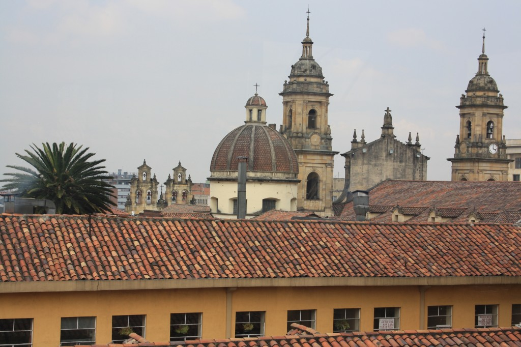 Over the rooftops of La Candelaria, Bogota