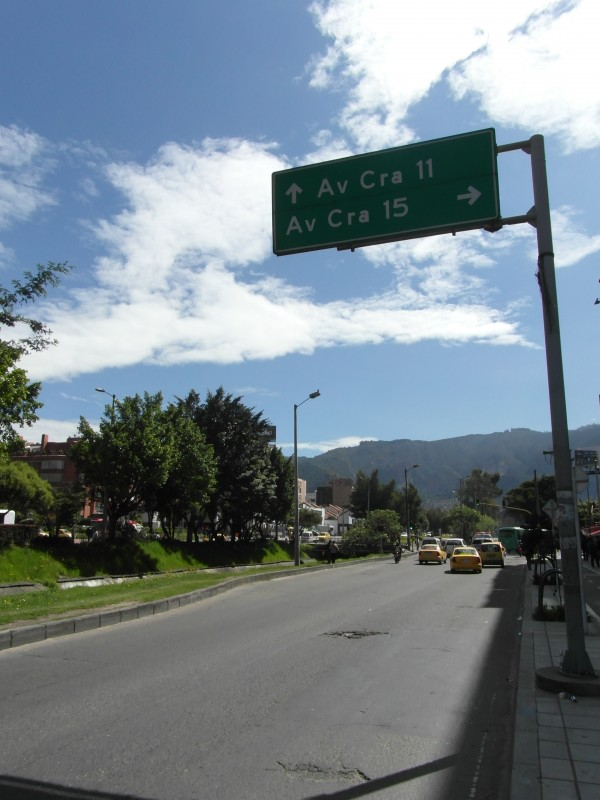 One of northern Bogota's most used intersections