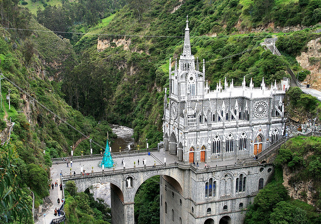 Las Lajas Sanctuary near Ipiales in southern Colombia