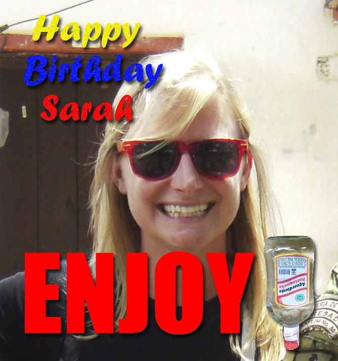 Happy birthday to Sara!