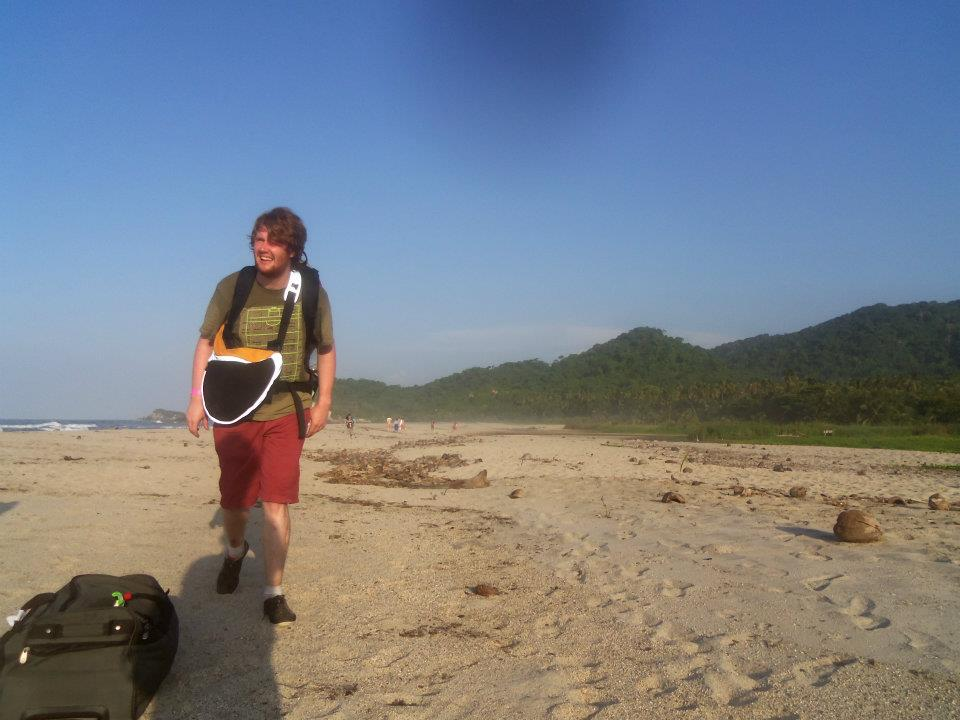 Ben, hiking the beaches of Colombia