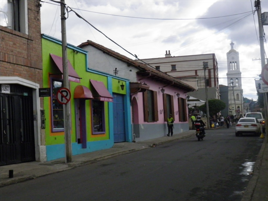 The colorful streets of Usaquen