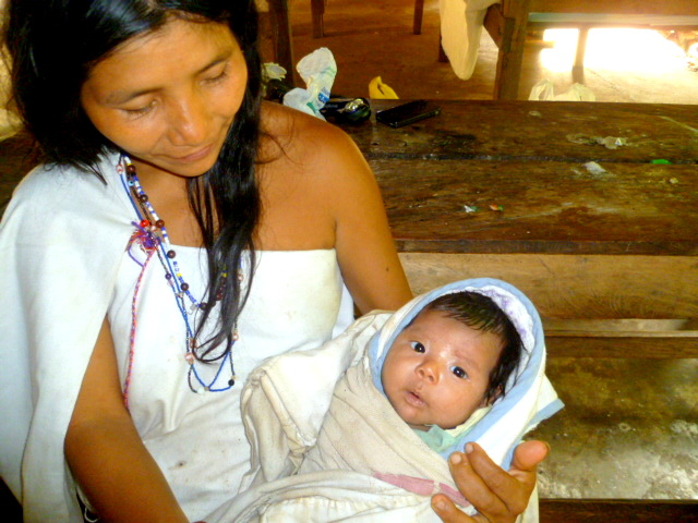 Kogi mother with child
