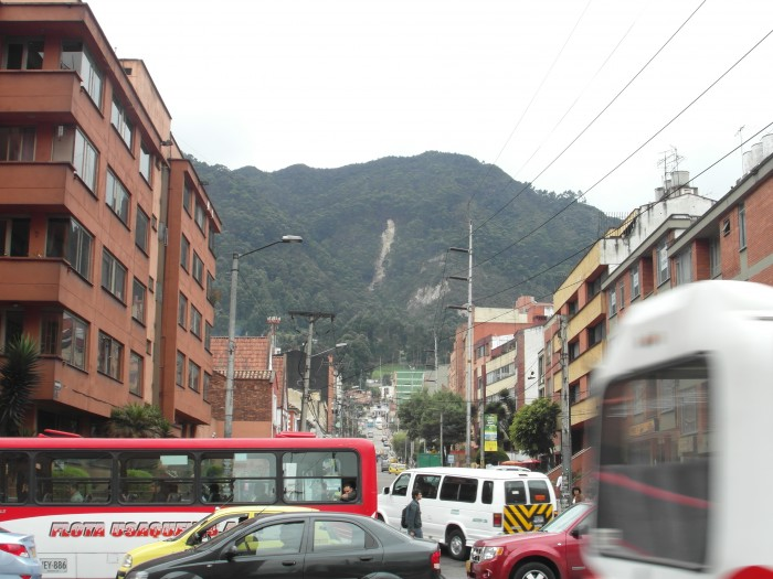The busy streets of Bogotá, a city many expats call home