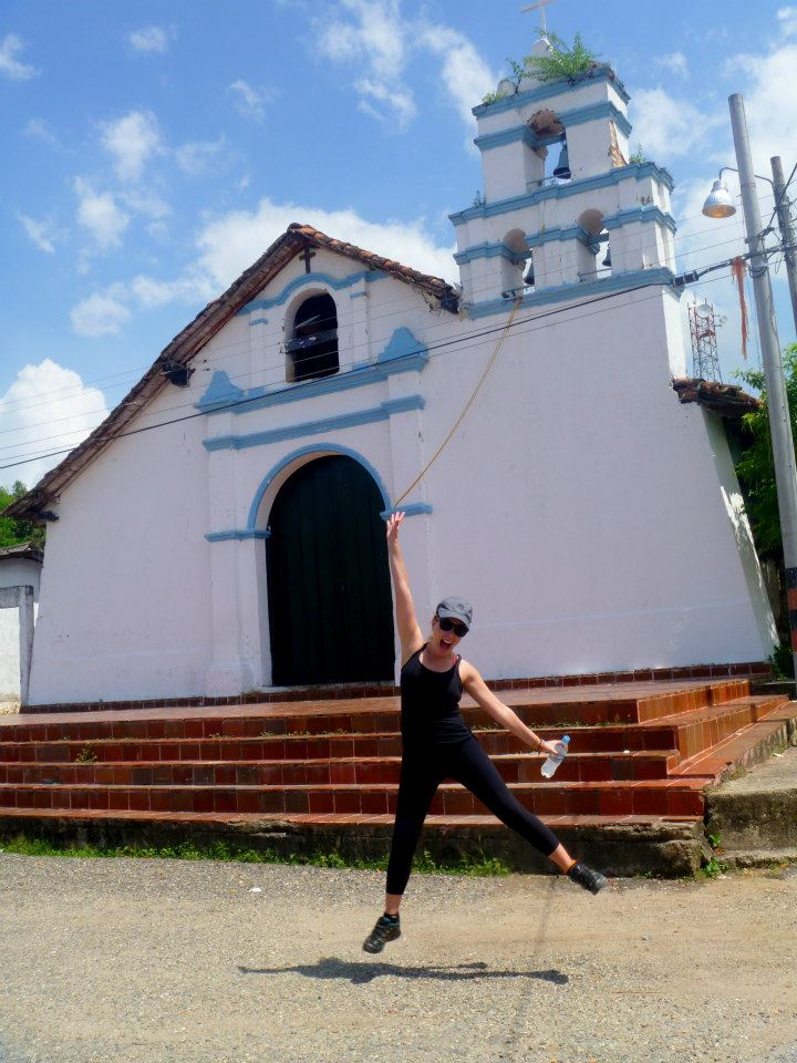 Jumping for joy in Tolima. See, so