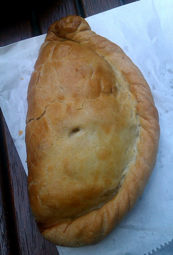 Cornish Pasty, image courtesy of djackmanson (http://www.flickr.com/photos/djackmanson/7252621646/sizes/m/in/photostream/)