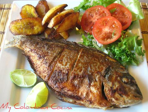 Mojarra Frita, image courtesy of www.mycolombiancocina.co.uk