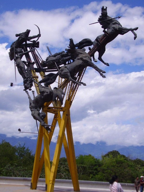 A totes abstract monument to Gaitana.