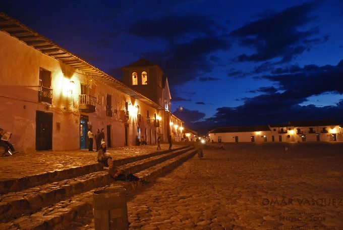 This is the massive plaza in Villa de Leyva, su merced
