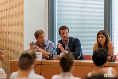 Jean-Baptiste Degez and Geoffroy Dumesnil promote their Colombia-inspire yoga brand
