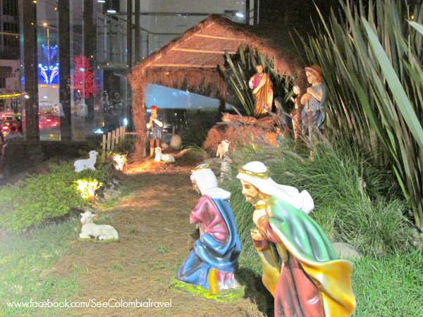 Nativity scene on Carrera Septima, Bogota
