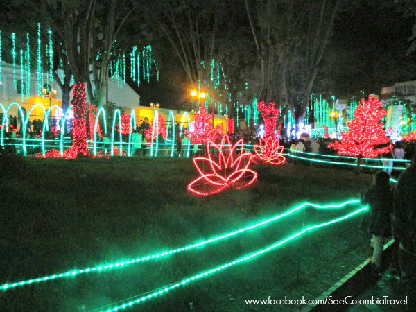 Christmas lights in Usaquen, Bogota