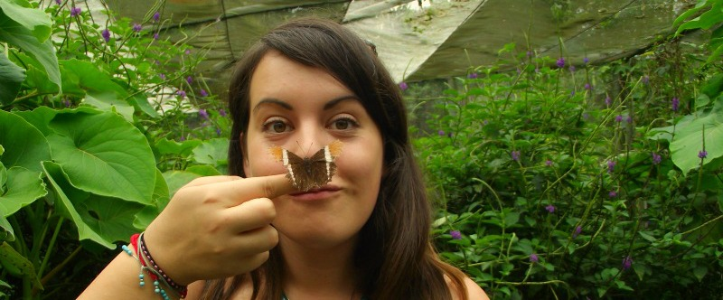 Jess and a butterfly