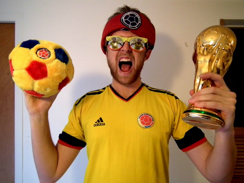 Colombian football fan