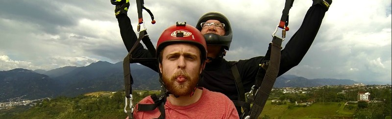 Paragliding Selfie Colombia