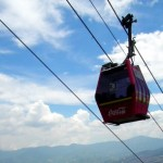 Riding the Metrocable over Medellin