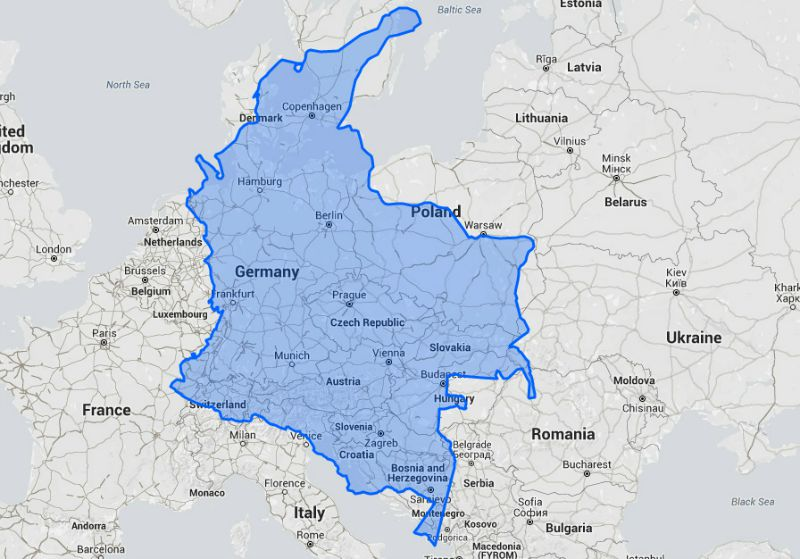 How Big Is Colombia Really Colombia Travel Blog By See Colombia - Germany us comparison map