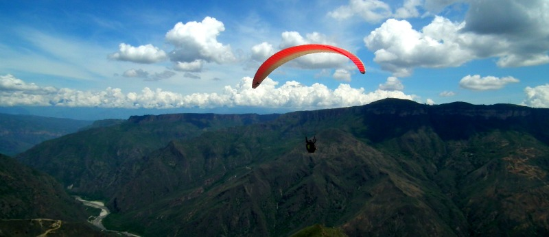 Paragliding Chicamocha Canyon Colombia