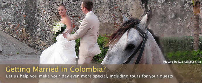 Wedding in Colombia - See Colombia Travel helps you get married in Colombia