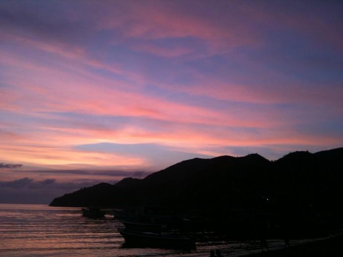 The beautiful Taganga sunset