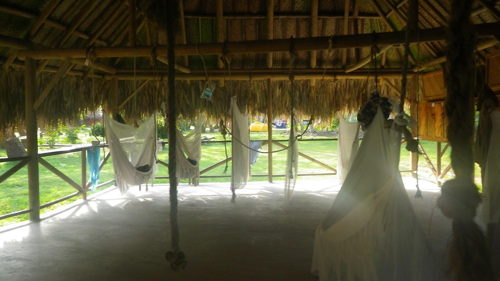 One accommodation option at Tayrona: Hammocks