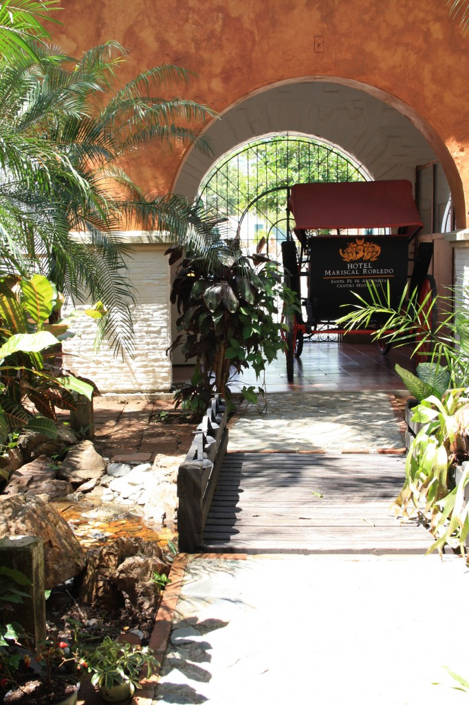Leafy, traditional entrance