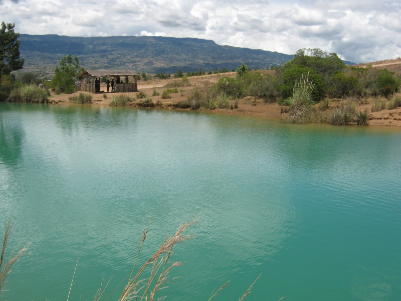 One of the five pozos azules (blue pools) in Villa de Leyva, which can be enjoyed as part of a short circular walk