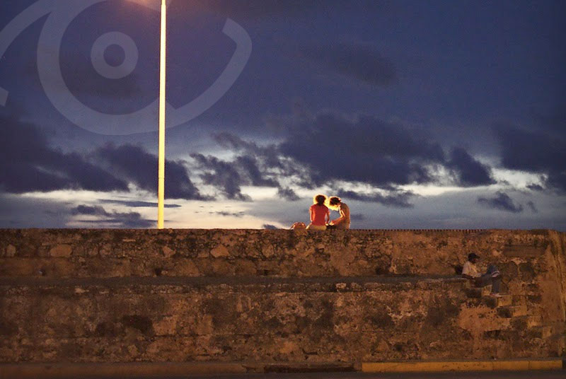 Watching the sunset in Cartagena