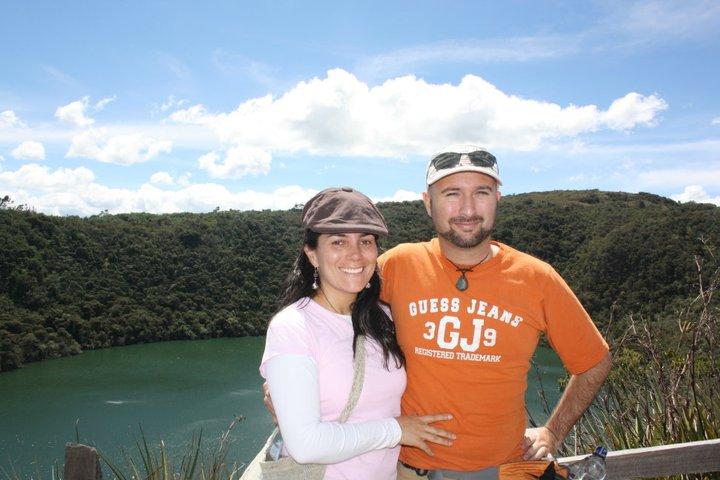 Marcela and JL at Guatavita