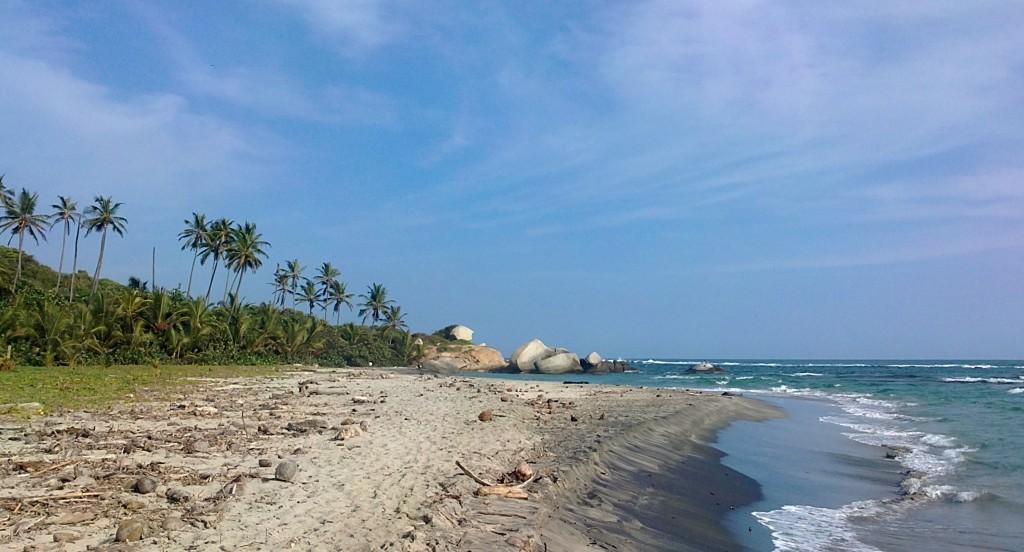One of the beautiful beaches of Tayrona