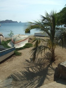 The beach in Taganga