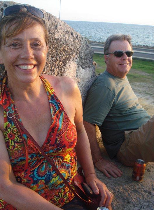 Linda and Bernie in Cartagena