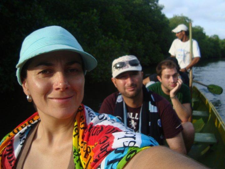 Boat ride through a swamp in Tolu