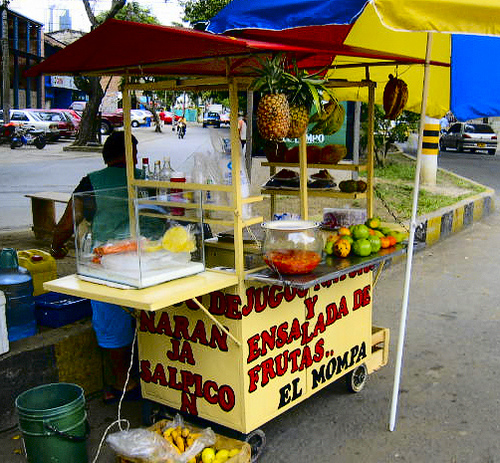 Fruit stall (photo courtesy of Eric Baxter - http://www.flickr.com/photos/worldwidewandering/1304011599/)