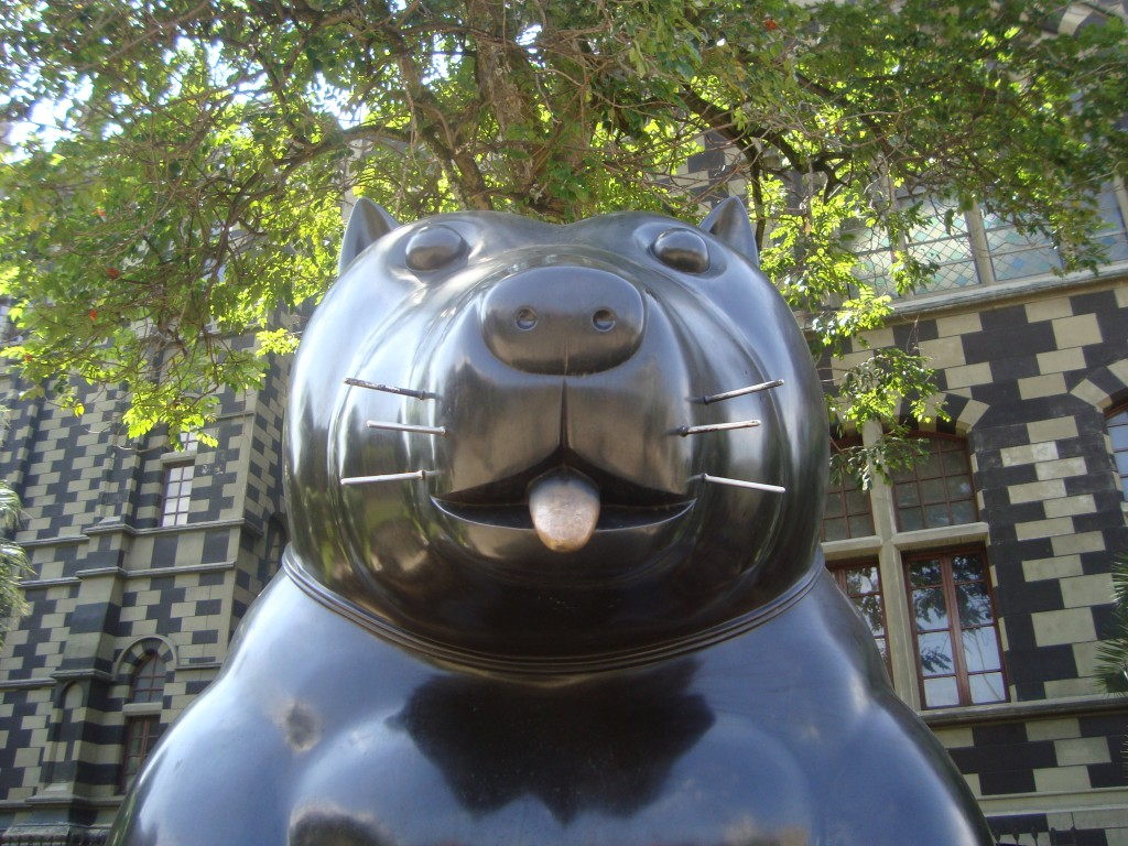 A Botero sculpture in Medellin