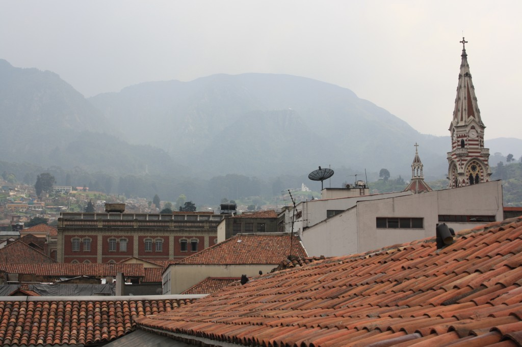 The mountains surrounding Bogota