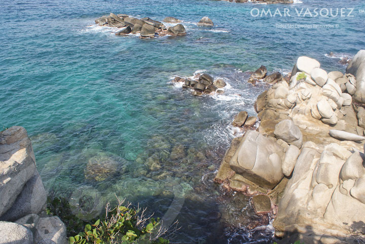 Clear waters at Tayrona