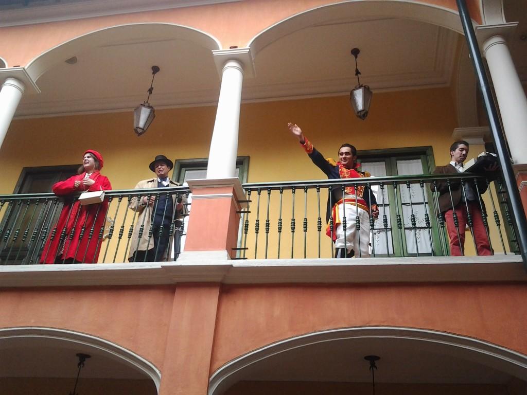 Simon Bolivar and friends