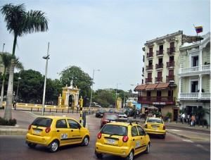 Taxis in Cartagena (Photo courtesy of Liz Saldaña - http://www.flickr.com/photos/lizsaldana/3213398758/)