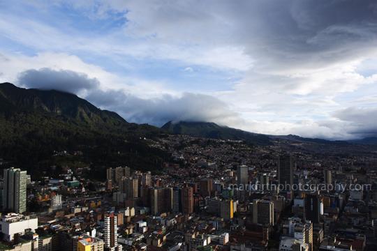 Bogota's ominous clouds