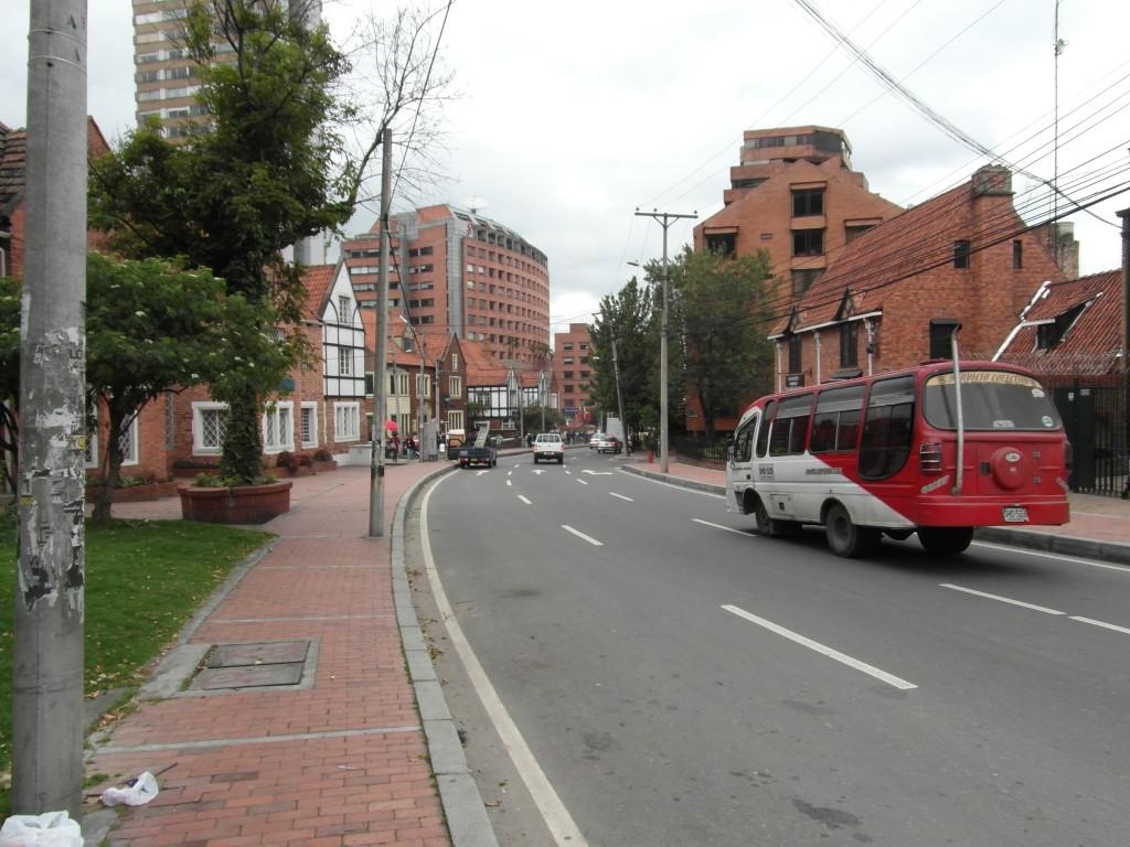 The winding streets of Chapinero Alto
