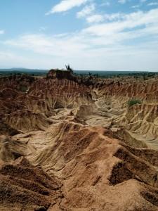 Desert landscape in Tatacoa