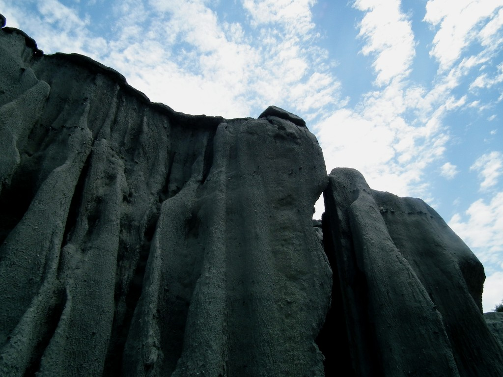 Grey rocks in the desert