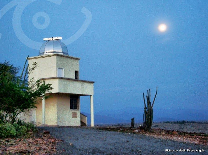 Night falls over the Tatacoa Desert