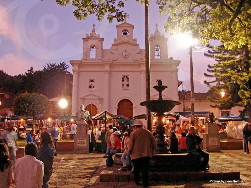 Early evening in Medellin