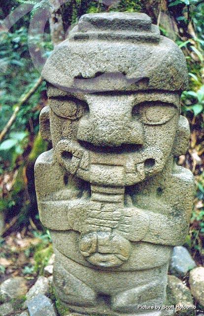 Pre-Columbian stone figure at San Agustin