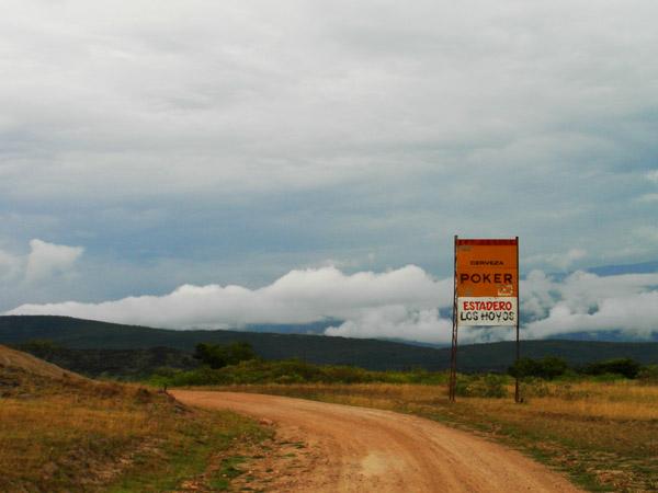 The open road in Tatacoa Desert