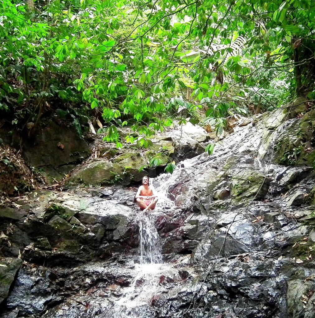 Enjoying the waterfalls at El Cielo