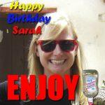 Feliz Cumpleaños Sara!